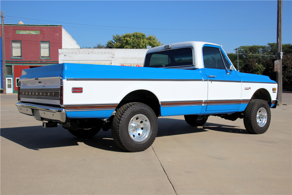 1972 CHEVROLET CHEYENNE SUPER 10 PICKUP - Side Profile - 188477