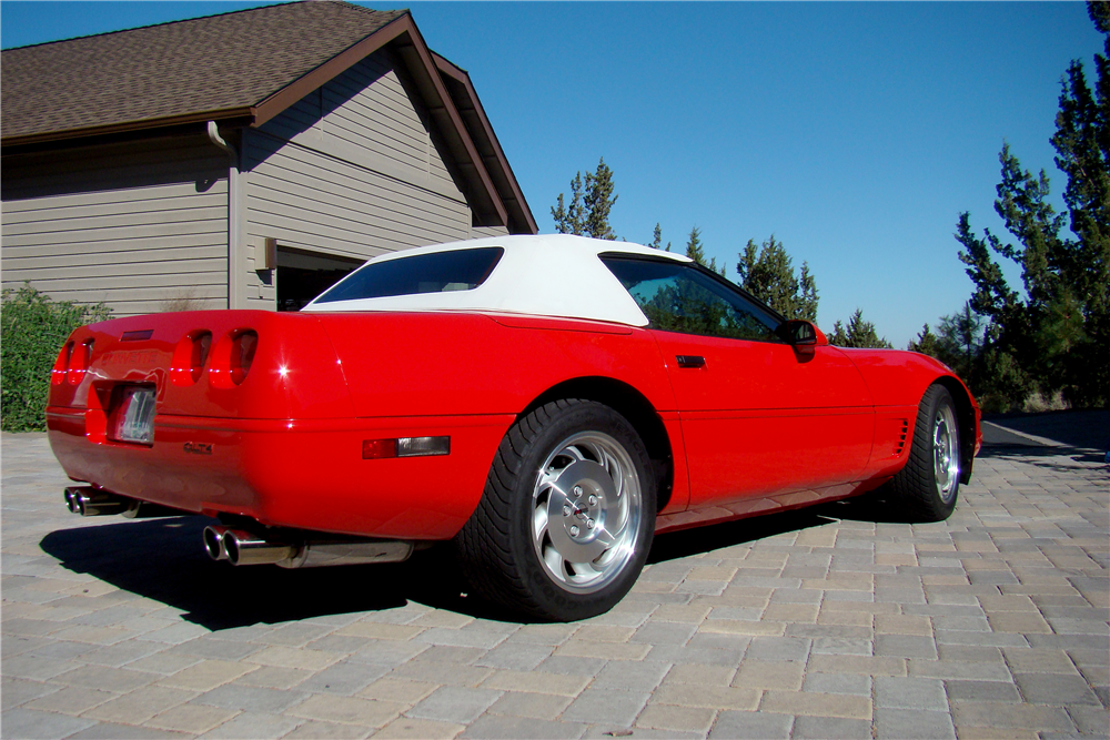 1996 CHEVROLET CORVETTE CONVERTIBLE - Rear 3/4 - 188508