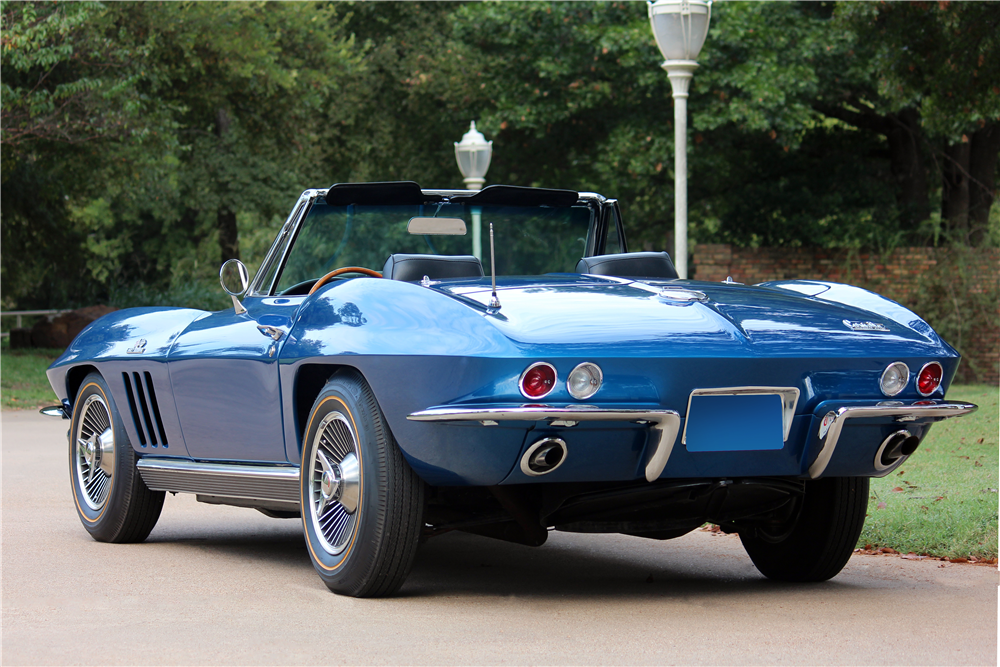 1966 CHEVROLET CORVETTE CONVERTIBLE - Rear 3/4 - 188516