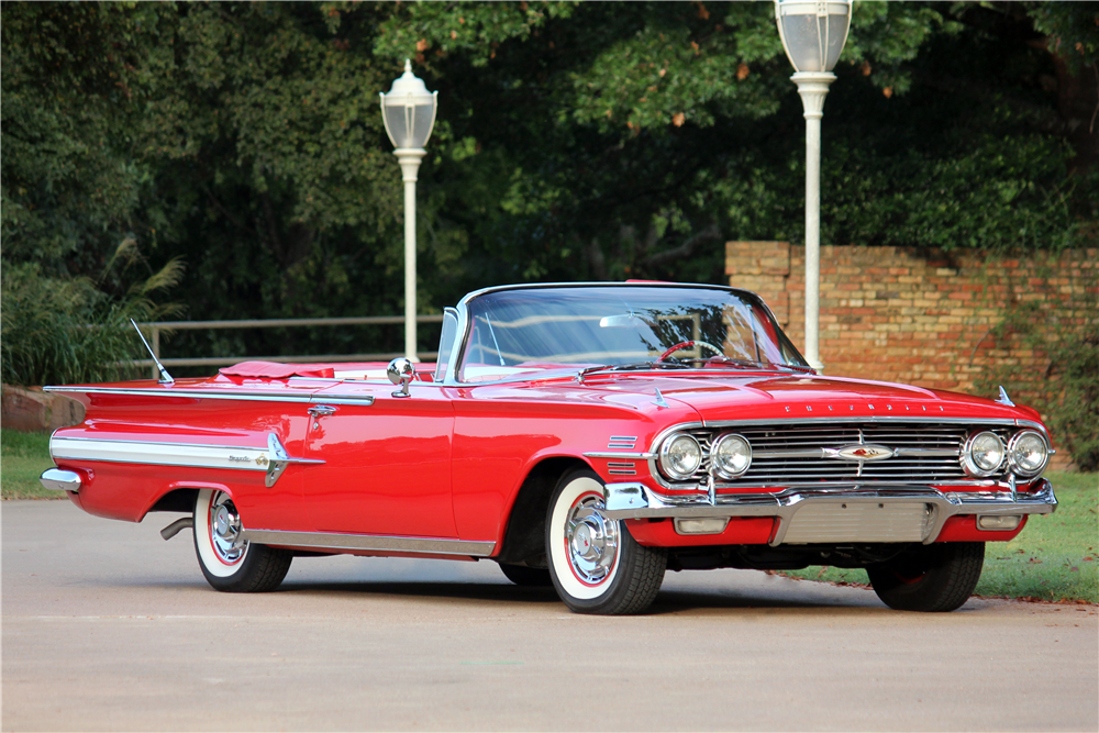 1960 CHEVROLET IMPALA CONVERTIBLE - Front 3/4 - 188517