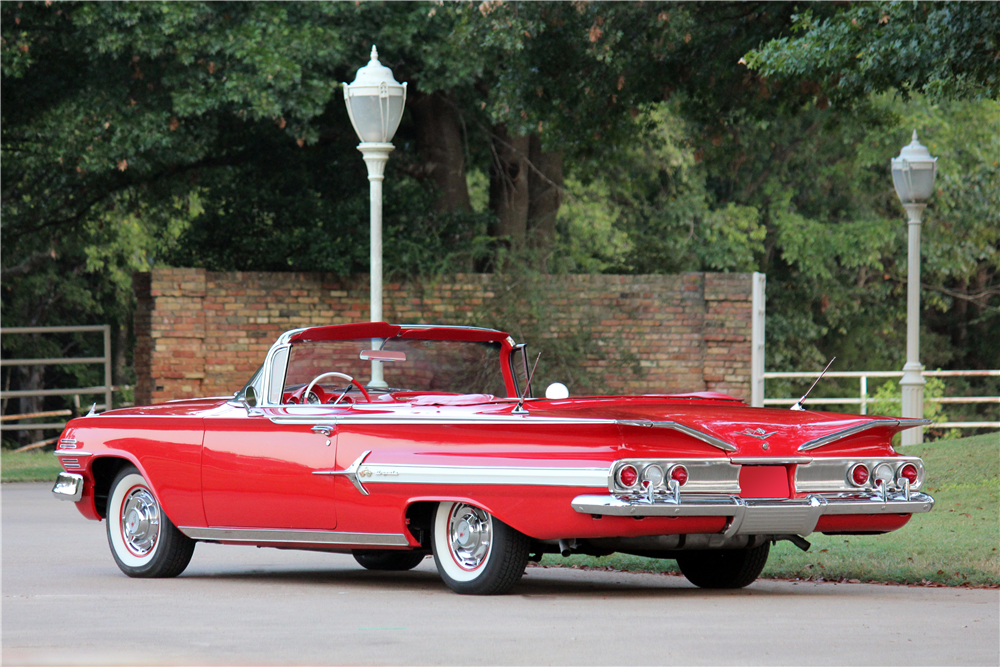 1960 CHEVROLET IMPALA CONVERTIBLE - Rear 3/4 - 188517