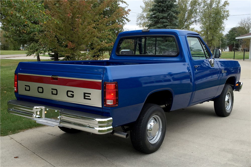 1993 DODGE RAM PICKUP - Rear 3/4 - 188536