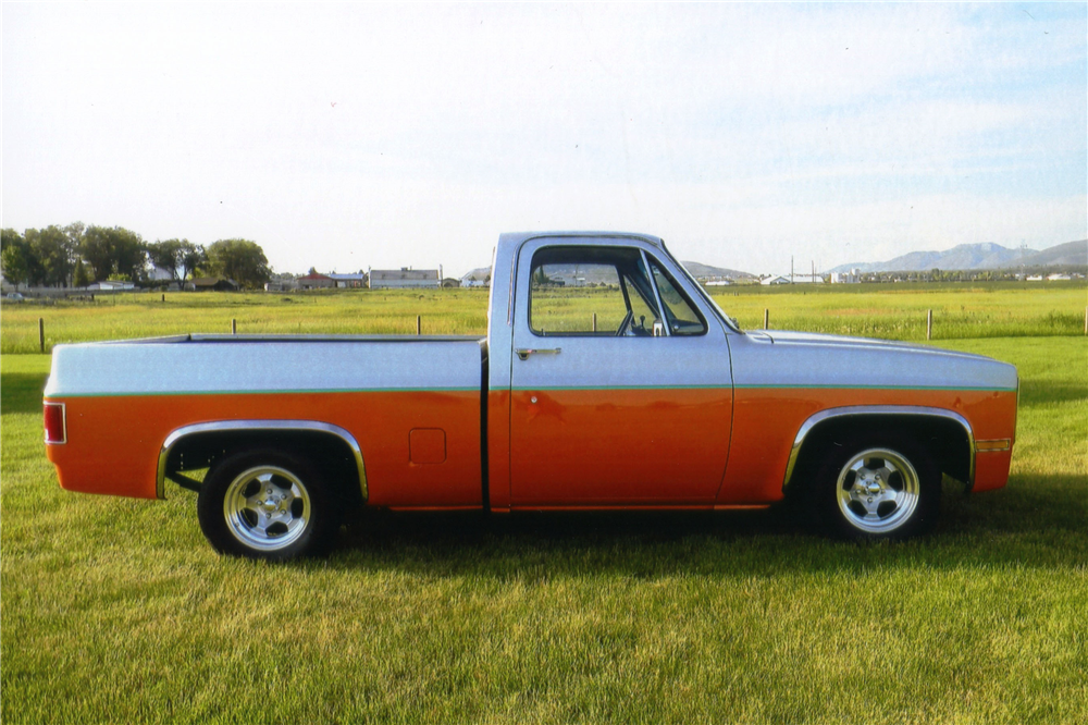 1984 CHEVROLET C-10 CUSTOM PICKUP - Side Profile - 188550