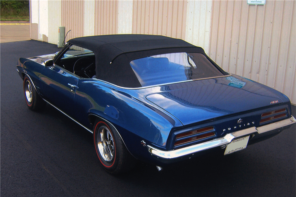1969 PONTIAC FIREBIRD CONVERTIBLE - Rear 3/4 - 188556