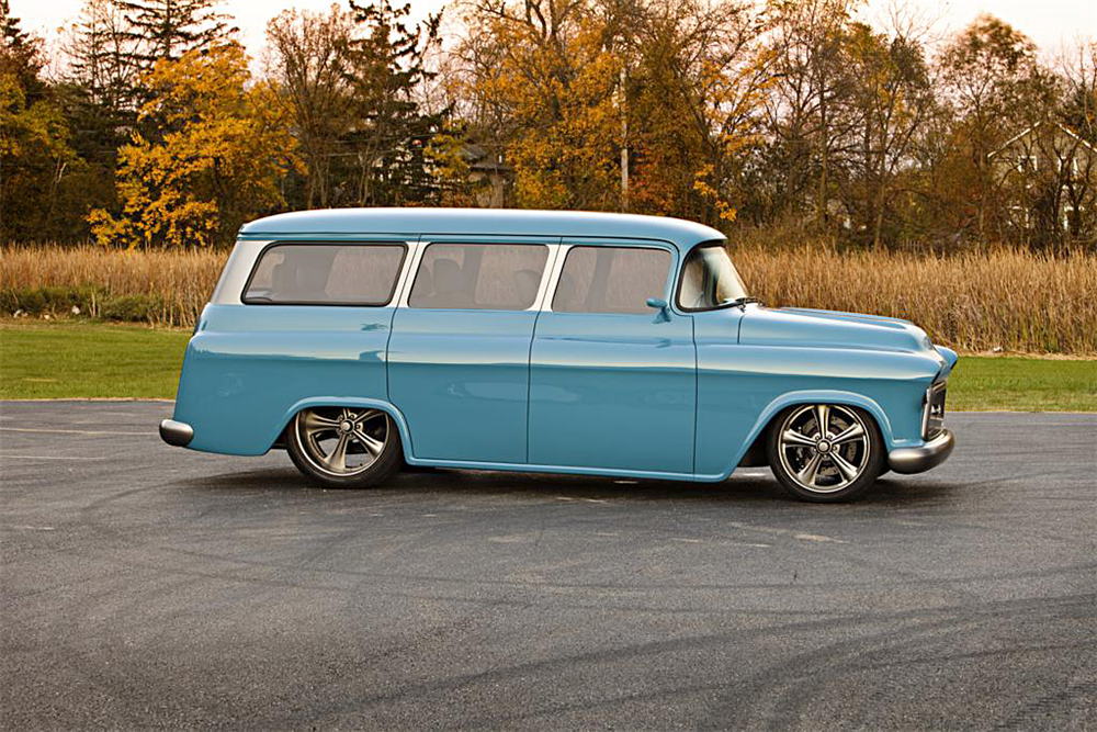 1957 CHEVROLET SUBURBAN CUSTOM - Side Profile - 188573