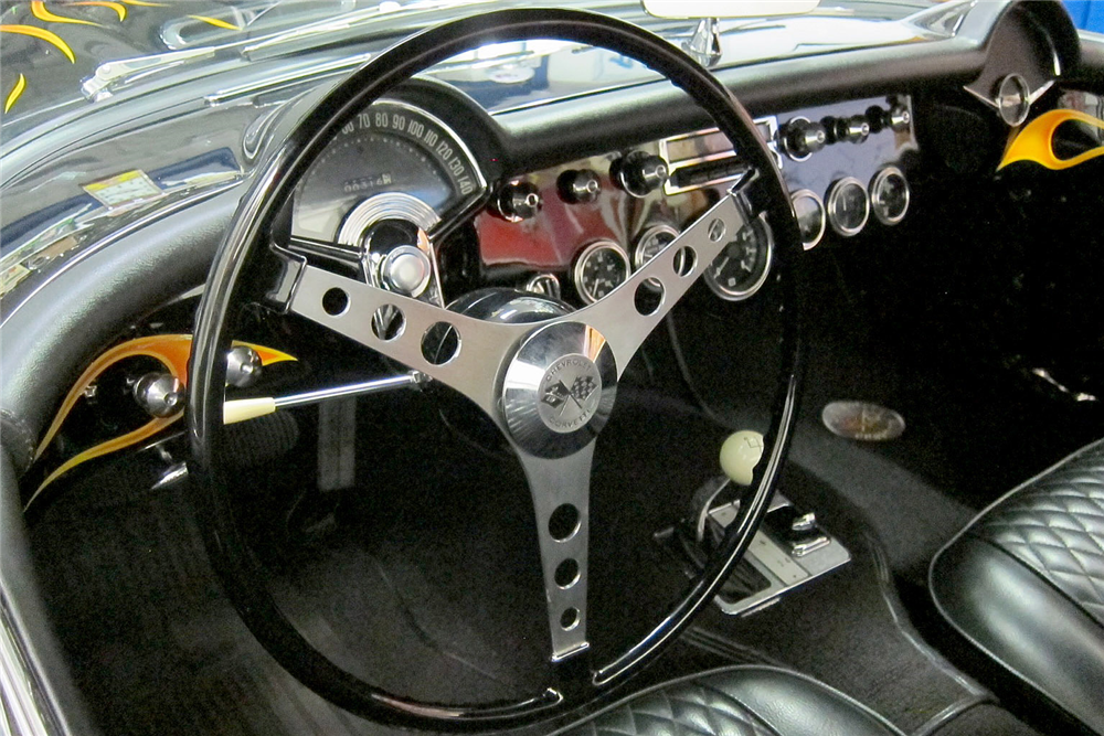 1957 CHEVROLET CORVETTE CUSTOM CONVERTIBLE - Interior - 188575
