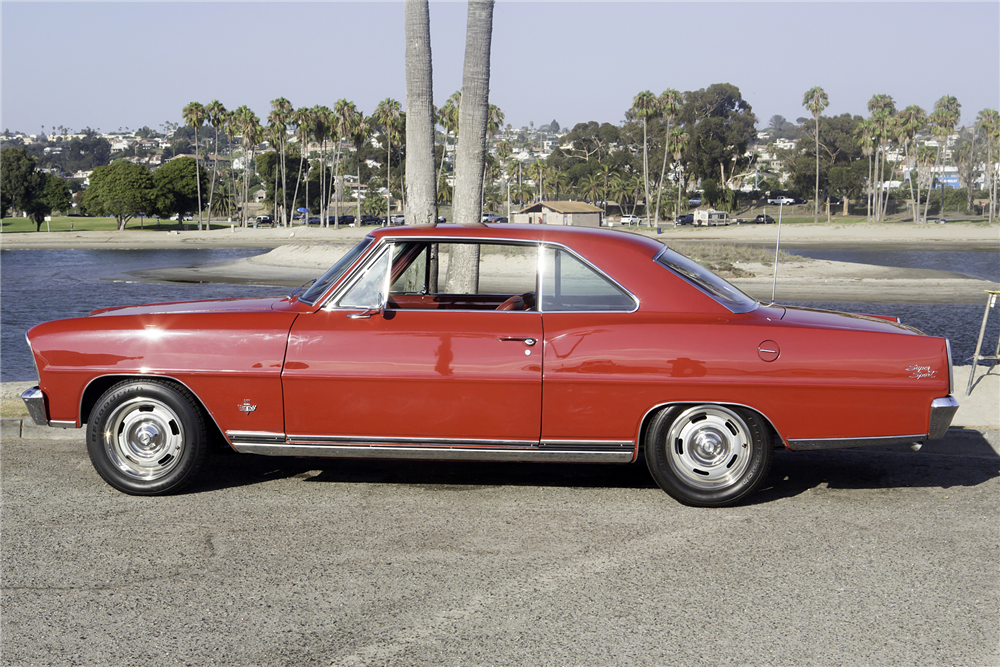 1966 CHEVROLET NOVA SS - Side Profile - 188585