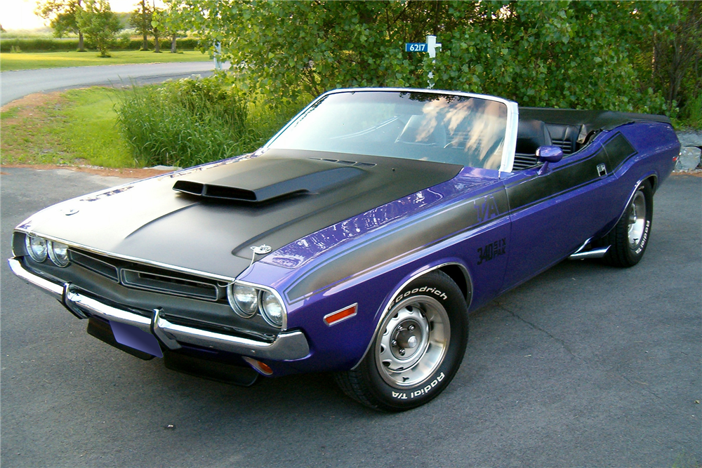 1971 DODGE CHALLENGER CUSTOM CONVERTIBLE - Front 3/4 - 188604