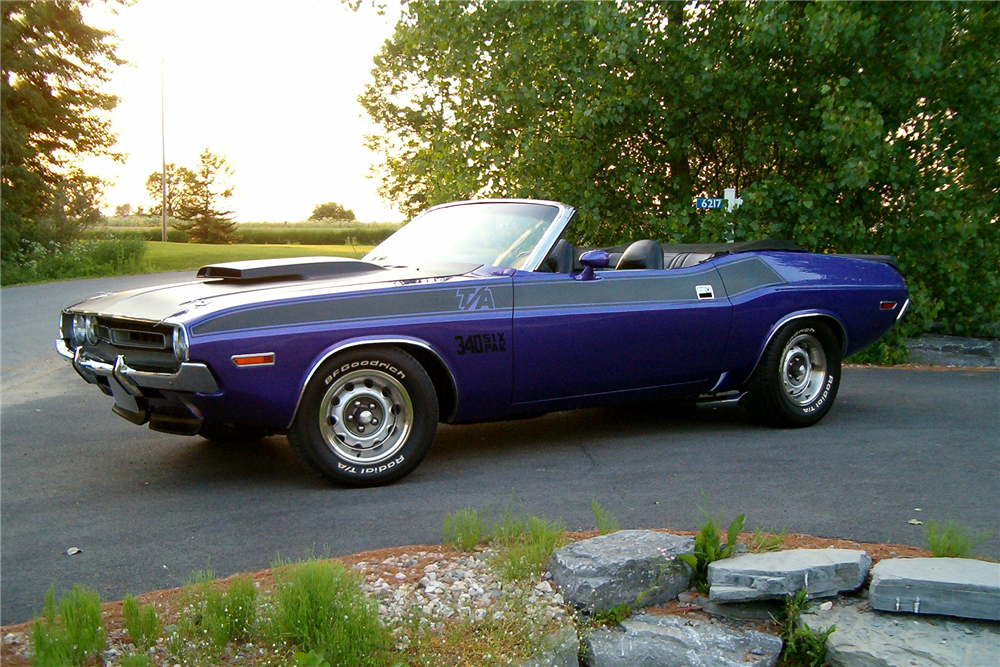1971 DODGE CHALLENGER CUSTOM CONVERTIBLE - Side Profile - 188604