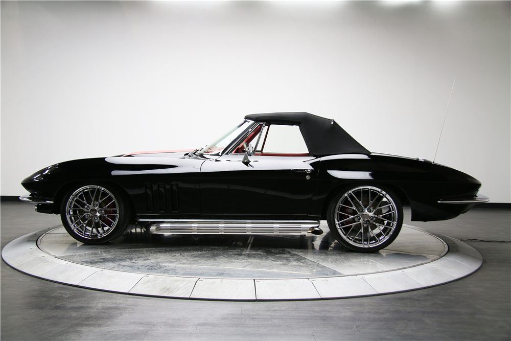 1966 CHEVROLET CORVETTE CUSTOM CONVERTIBLE - Side Profile - 188616
