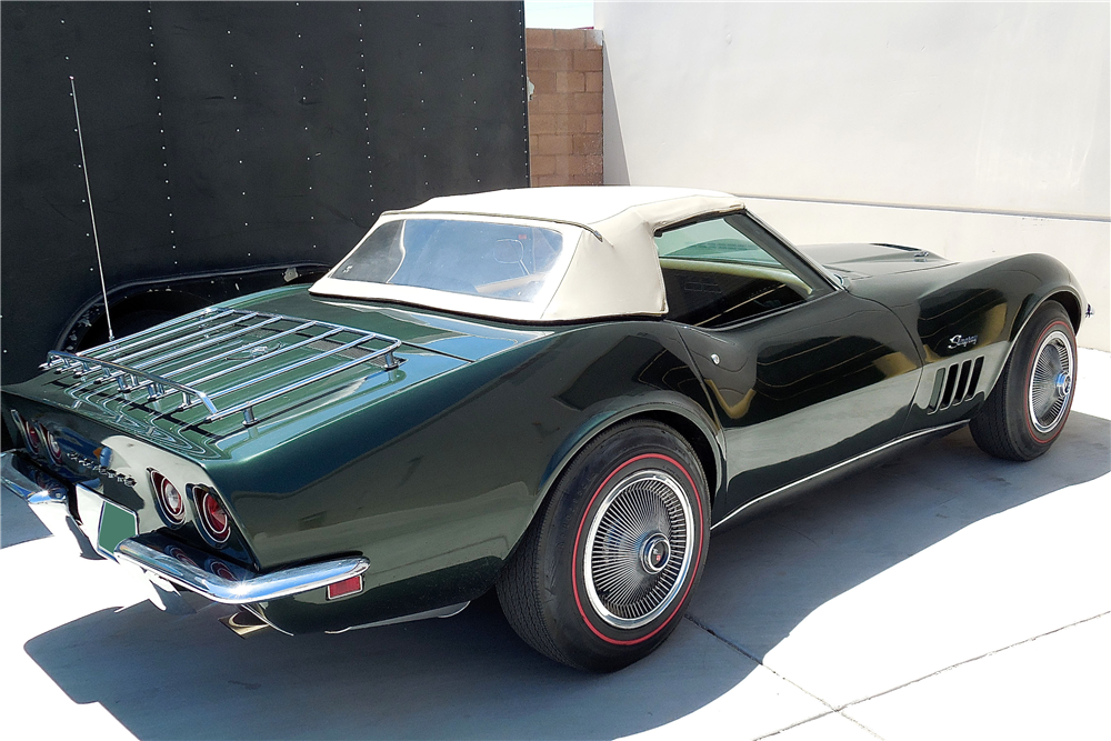 1969 CHEVROLET CORVETTE CONVERTIBLE - Rear 3/4 - 188625