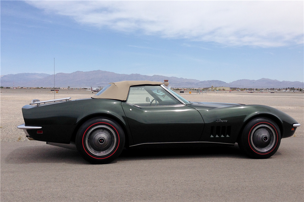 1969 CHEVROLET CORVETTE CONVERTIBLE - Side Profile - 188625