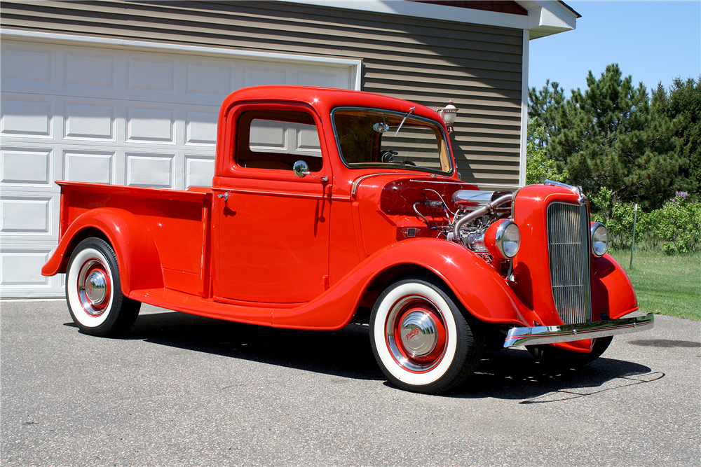 1936 FORD HALF-TON CUSTOM PICKUP - Front 3/4 - 188631