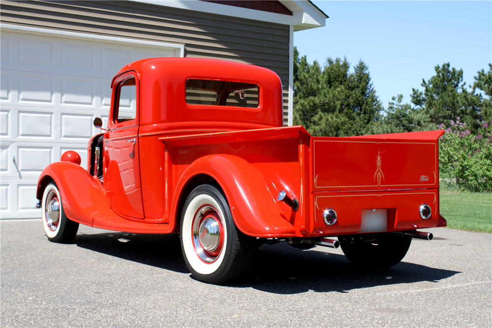 1936 FORD HALF-TON CUSTOM PICKUP - Rear 3/4 - 188631
