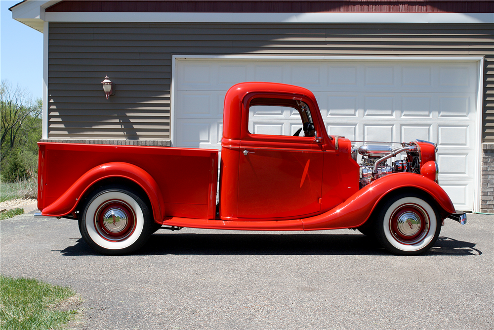 1936 FORD HALF-TON CUSTOM PICKUP - Side Profile - 188631