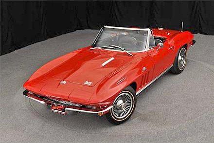 1966 CHEVROLET CORVETTE CONVERTIBLE - Front 3/4 - 188634