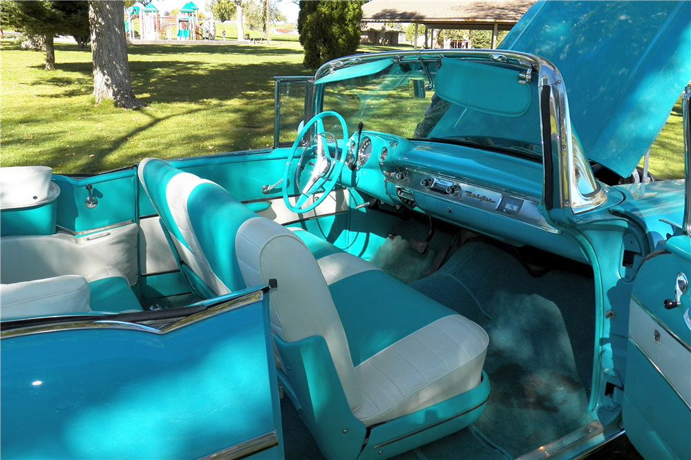 1957 CHEVROLET BEL AIR CONVERTIBLE - Interior - 188651