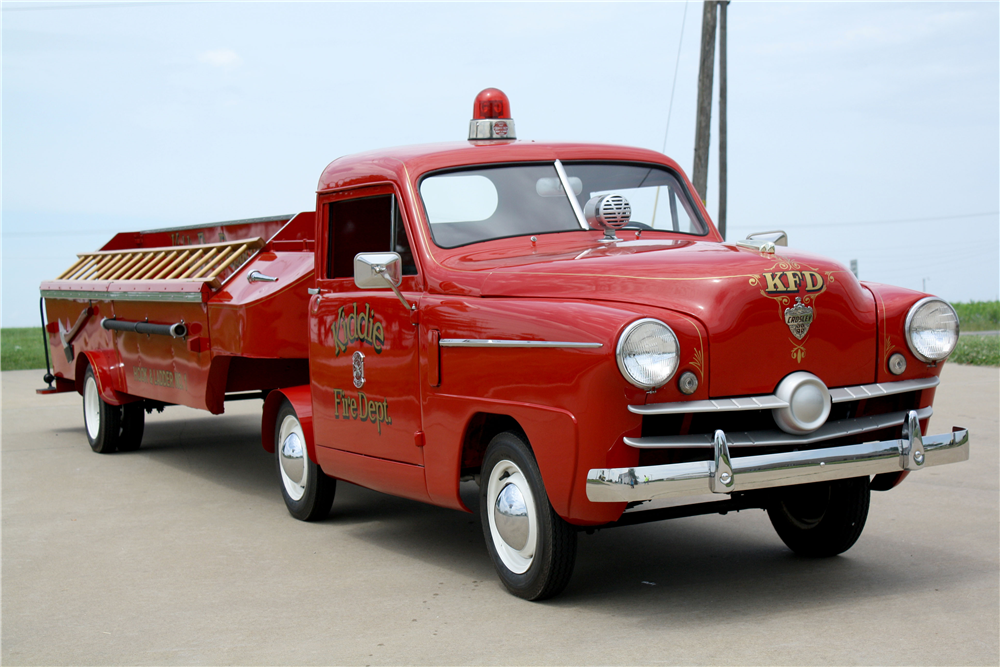 1952 CROSLEY CD KIDDEE HOOK & LADDER FIRE TRUCK - Front 3/4 - 188652