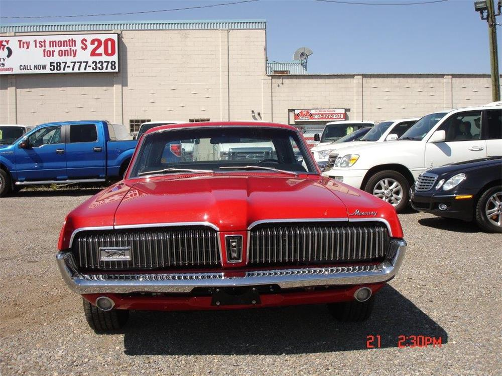 1968 MERCURY COUGAR  - Side Profile - 188667
