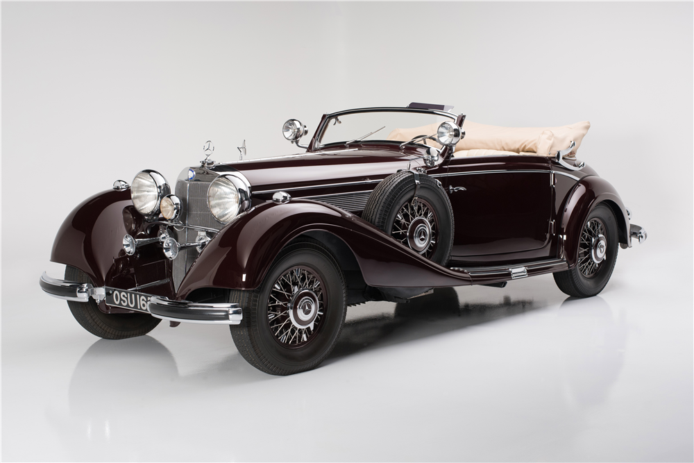 "1939 MERCEDES-BENZ 540K WITH ""CABRIOLET A"" BODY CONVERSION - Front 3/4 - 188684"