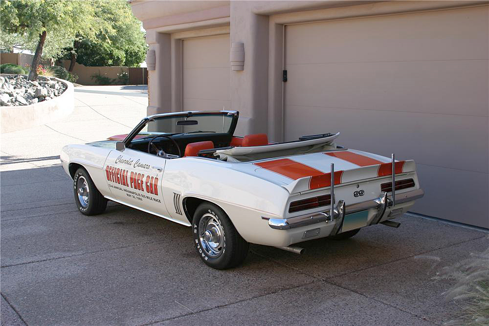 1969 CHEVROLET CAMARO RS/SS INDY PACE CAR CONVERTIBLE - Rear 3/4 - 188694