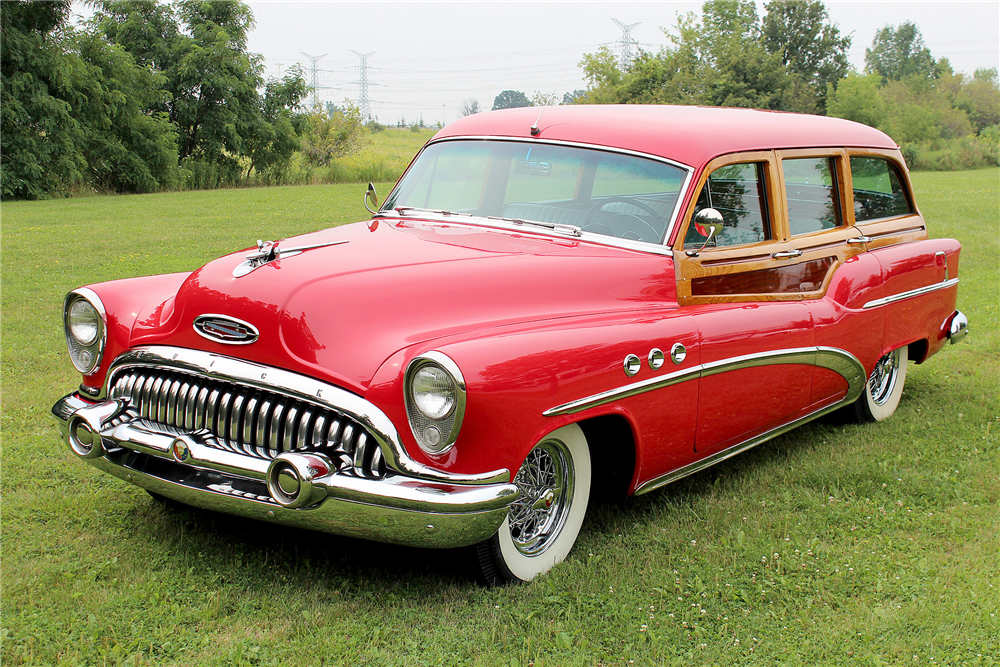 1953 BUICK SUPER WOODY STATION WAGON - Front 3/4 - 188706