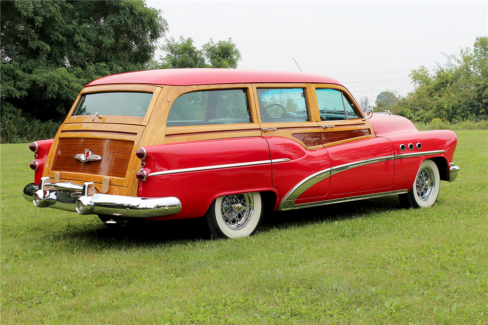 1953 BUICK SUPER WOODY STATION WAGON - Rear 3/4 - 188706