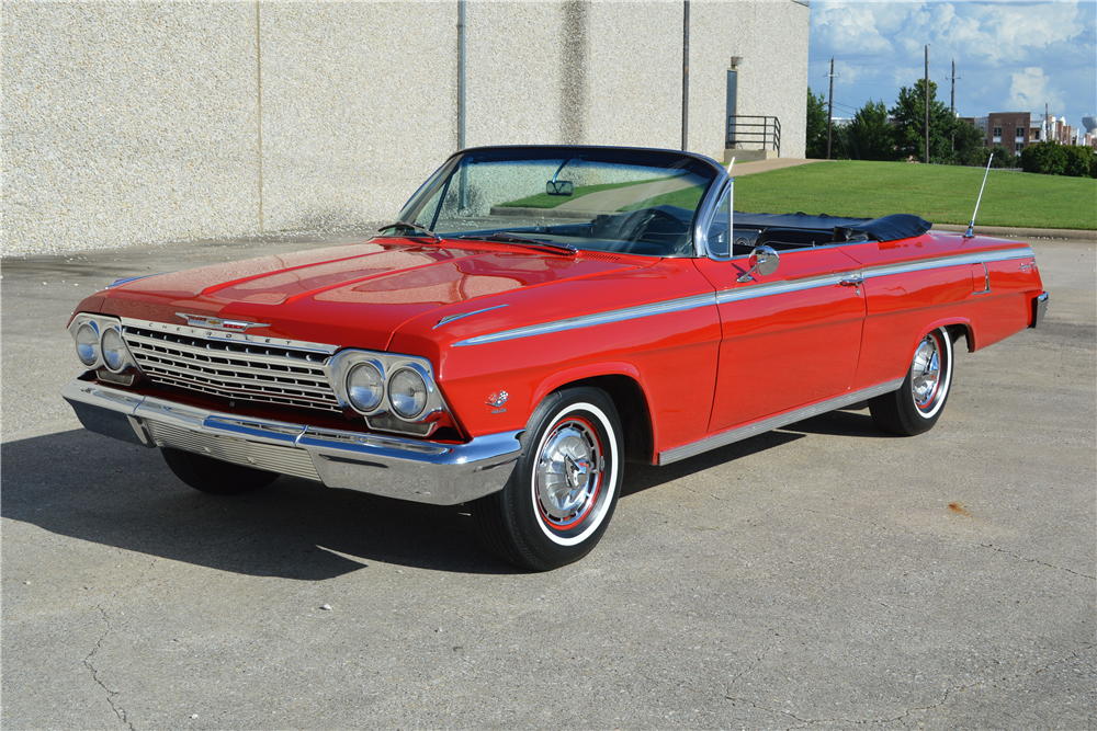 1962 CHEVROLET IMPALA SS 409 CONVERTIBLE - Front 3/4 - 188712