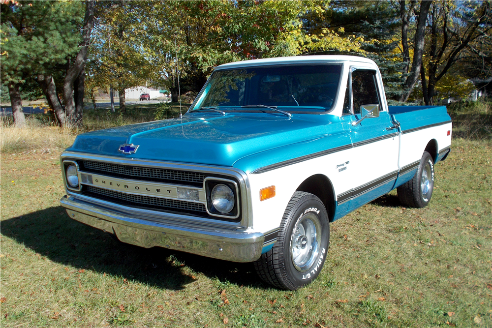 1970 CHEVROLET C-10 FLEETSIDE PICKUP - Front 3/4 - 188751