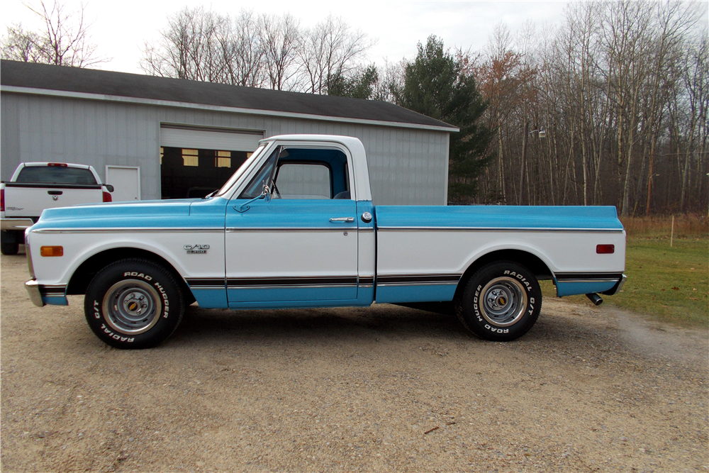 1969 CHEVROLET C-10 FLEETSIDE PICKUP - Side Profile - 188752