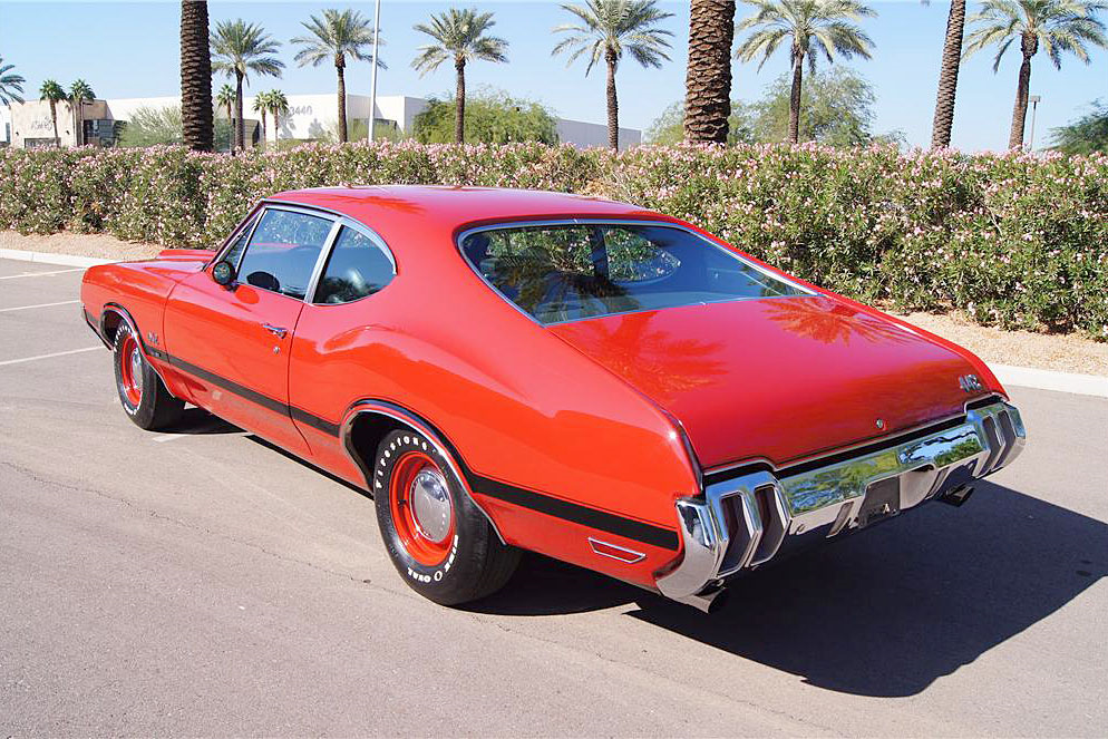 1970 OLDSMOBILE 442 W30 POST COUPE - Rear 3/4 - 188760