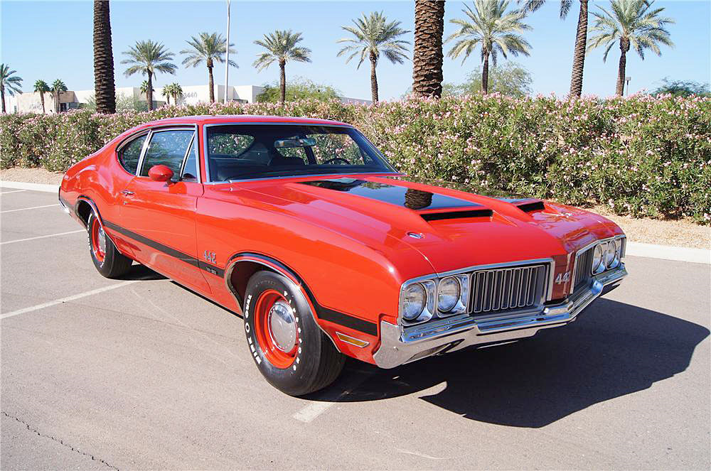 1970 OLDSMOBILE 442 W30 POST COUPE - Side Profile - 188760