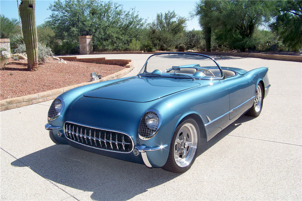 1954 CHEVROLET CORVETTE CUSTOM CONVERTIBLE - Front 3/4 - 188761