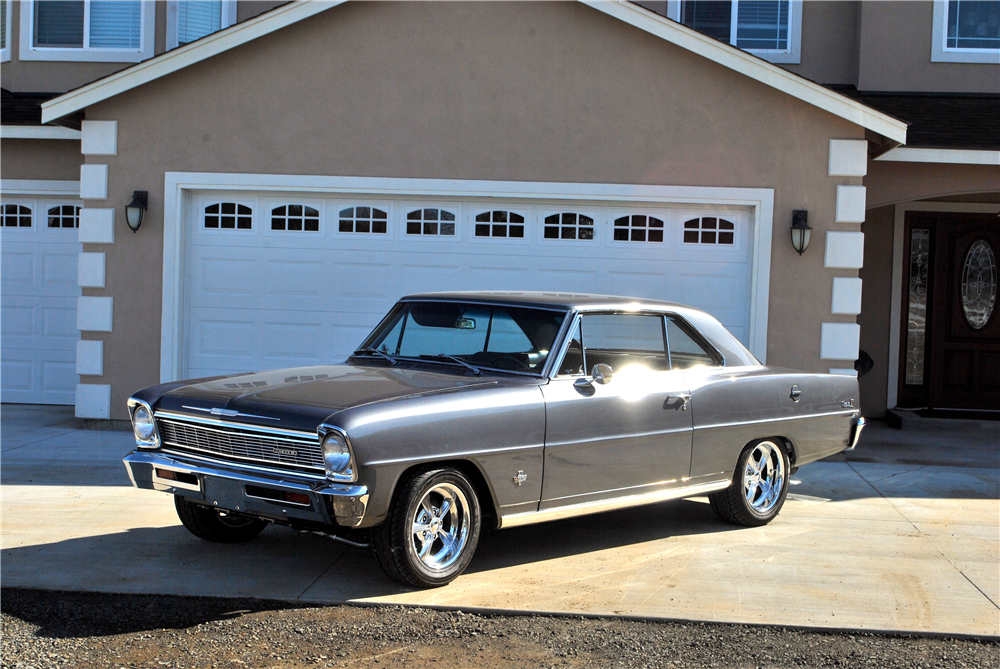 1966 CHEVROLET NOVA CUSTOM COUPE - Front 3/4 - 188775