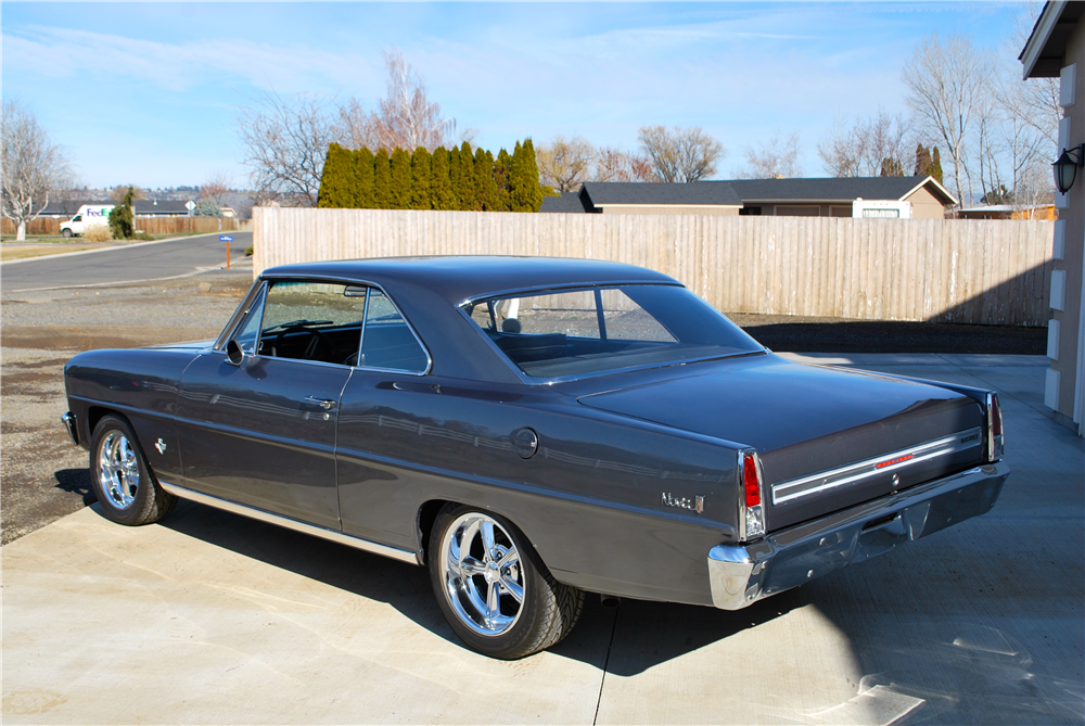 1966 CHEVROLET NOVA CUSTOM COUPE - Rear 3/4 - 188775