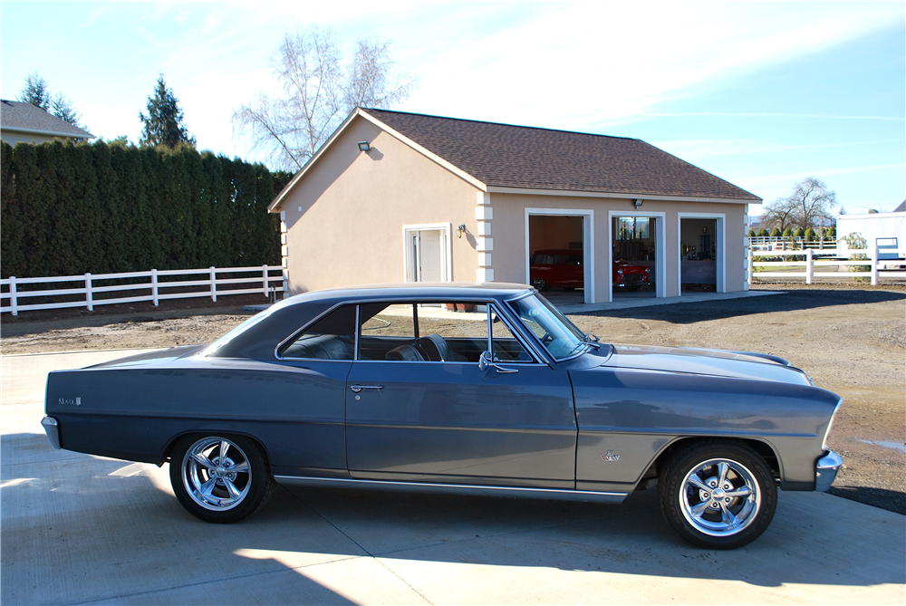 1966 CHEVROLET NOVA CUSTOM COUPE - Side Profile - 188775