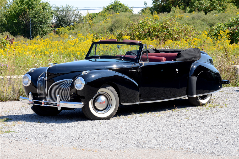 1941 LINCOLN CONTINENTAL CONVERTIBLE - Front 3/4 - 188788