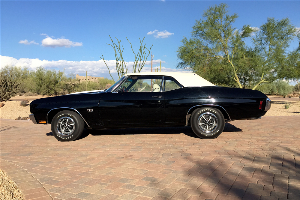 1970 CHEVROLET CHEVELLE SS 396 CONVERTIBLE - Side Profile - 188830