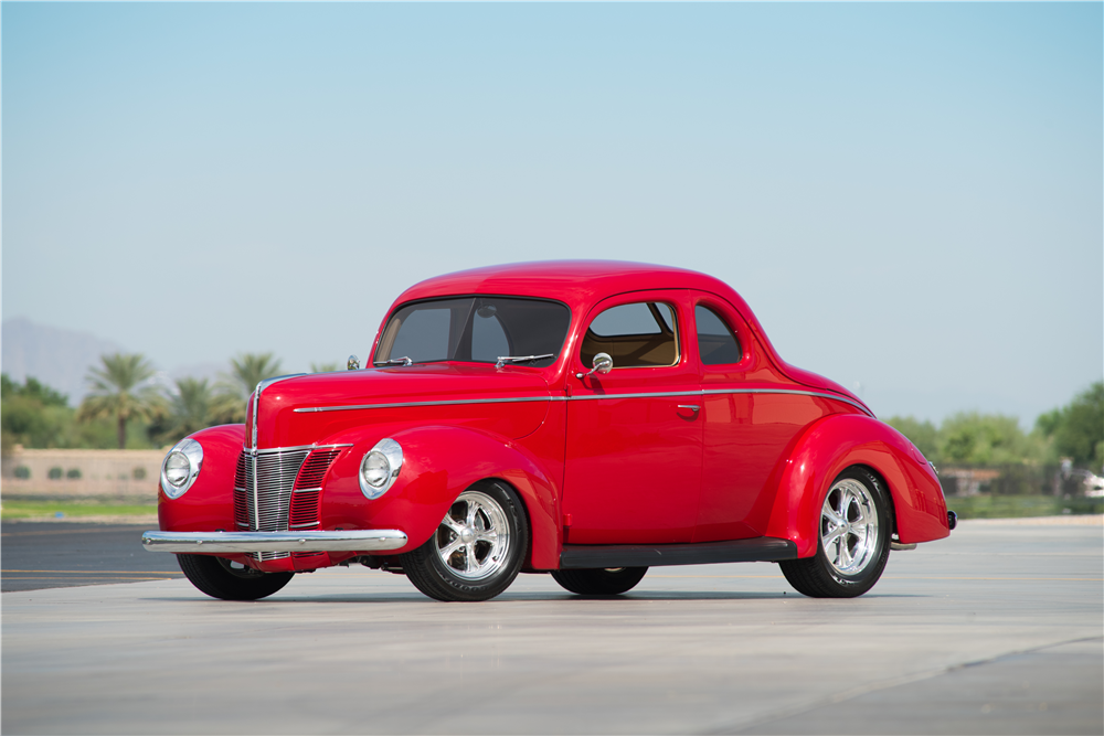 1940 FORD DELUXE CUSTOM COUPE - Front 3/4 - 188860