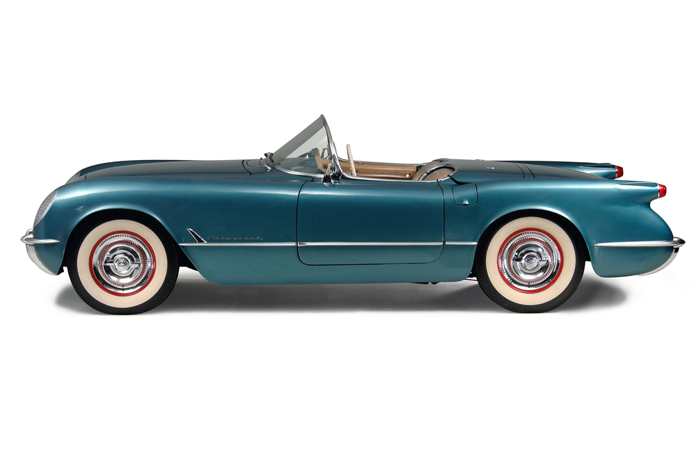 1954 CHEVROLET CORVETTE CONVERTIBLE - Side Profile - 188880