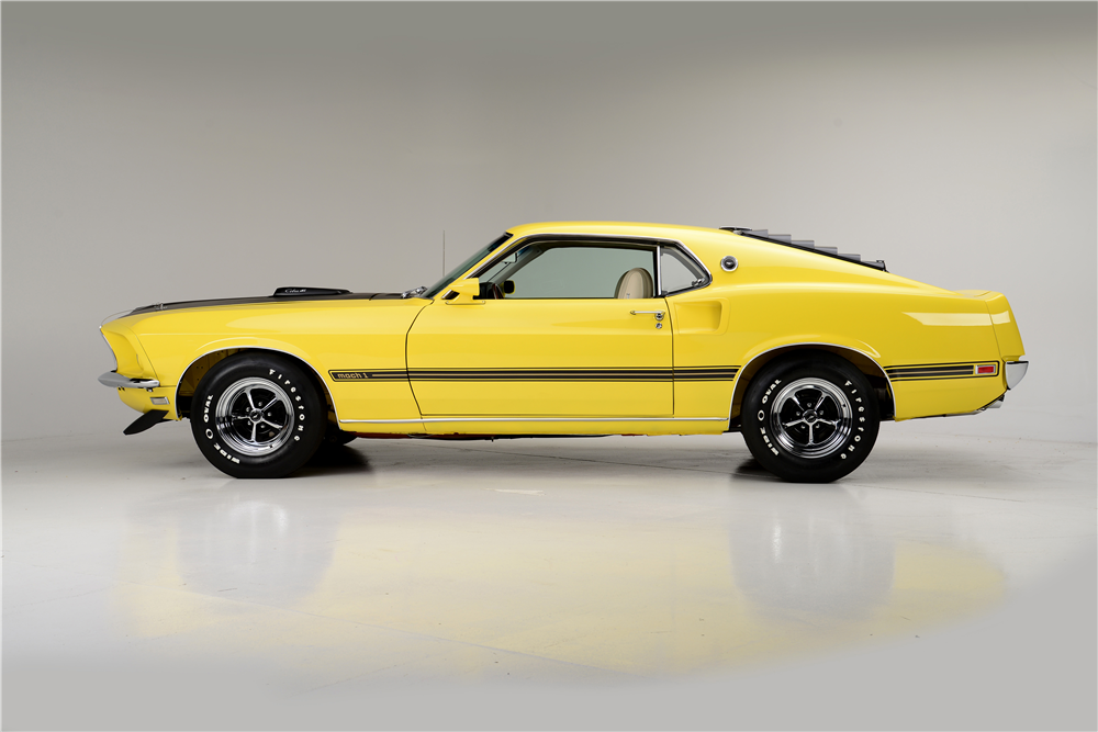 1969 FORD MUSTANG MACH 1 FASTBACK - Side Profile - 188924