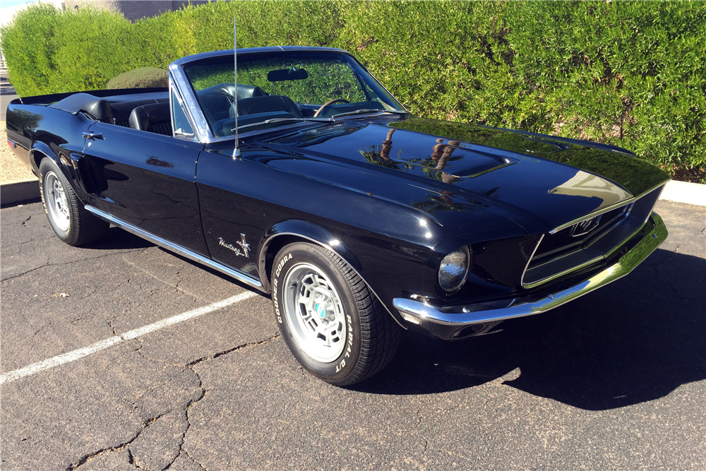 1968 FORD MUSTANG CONVERTIBLE - Front 3/4 - 188926