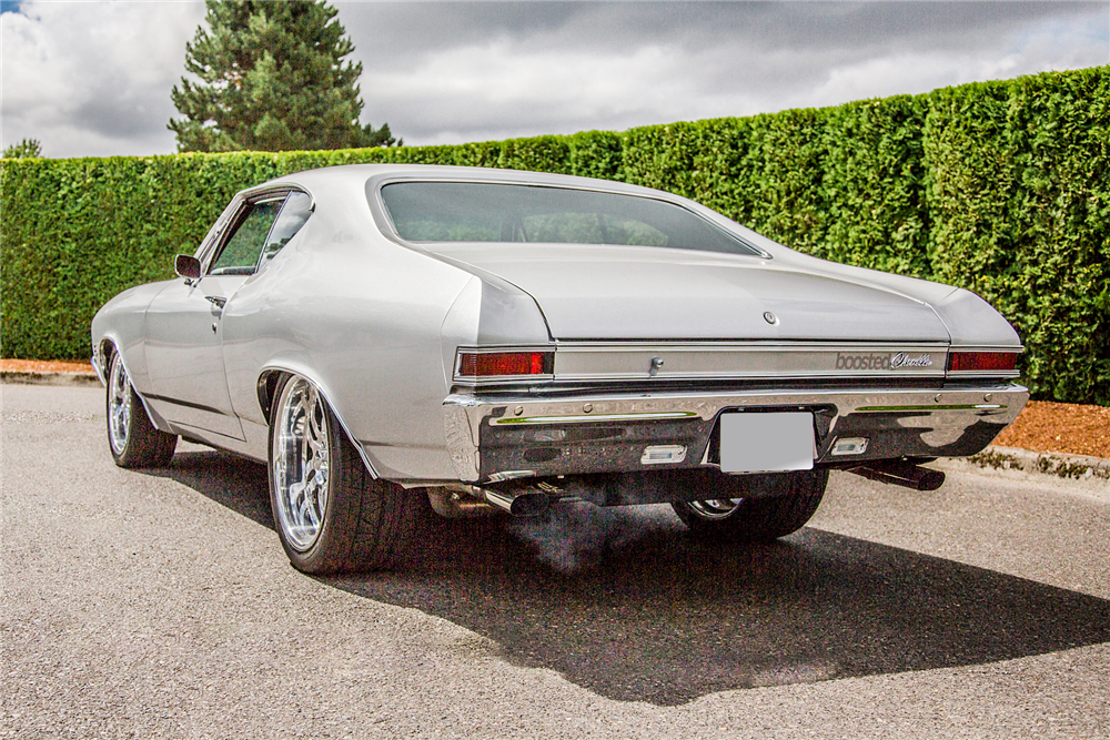 1968 CHEVROLET CHEVELLE CUSTOM COUPE - Rear 3/4 - 188932
