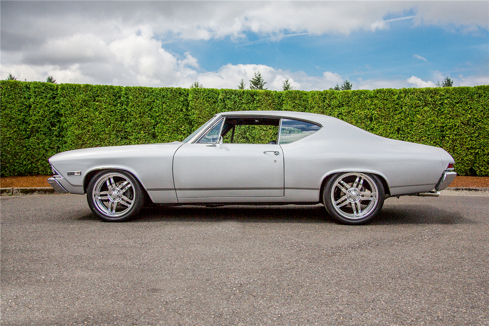 1968 CHEVROLET CHEVELLE CUSTOM COUPE - Side Profile - 188932