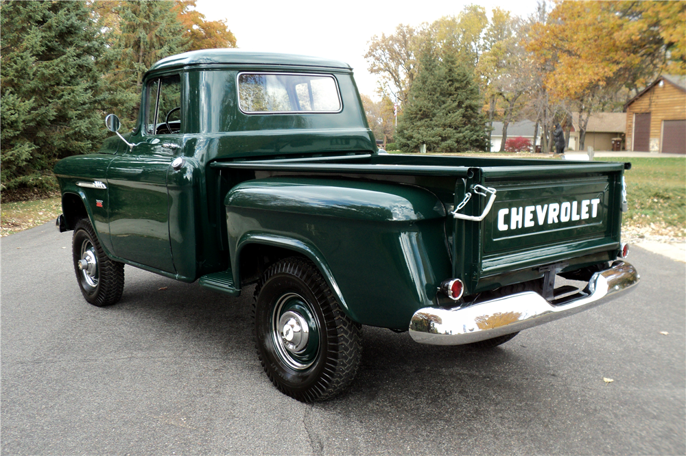 1955 CHEVROLET 3100 NAPCO 4X4 - Rear 3/4 - 188944