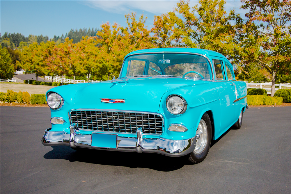 1955 CHEVROLET 210 CUSTOM POST COUPE - Front 3/4 - 188946