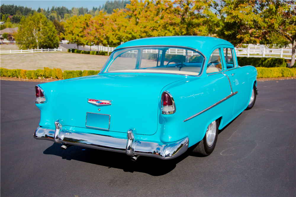 1955 CHEVROLET 210 CUSTOM POST COUPE - Rear 3/4 - 188946