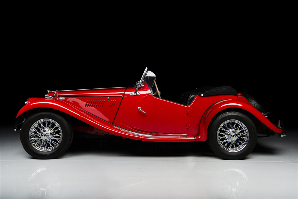 1954 MG TF CONVERTIBLE - Side Profile - 188965