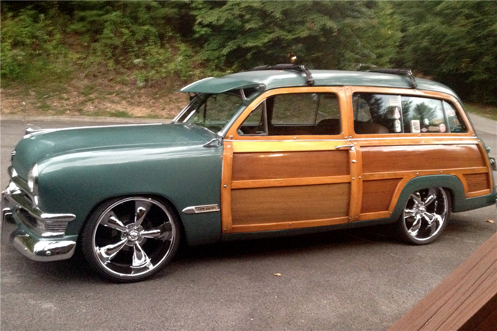 1950 FORD CUSTOM WOODY WAGON - Side Profile - 188967