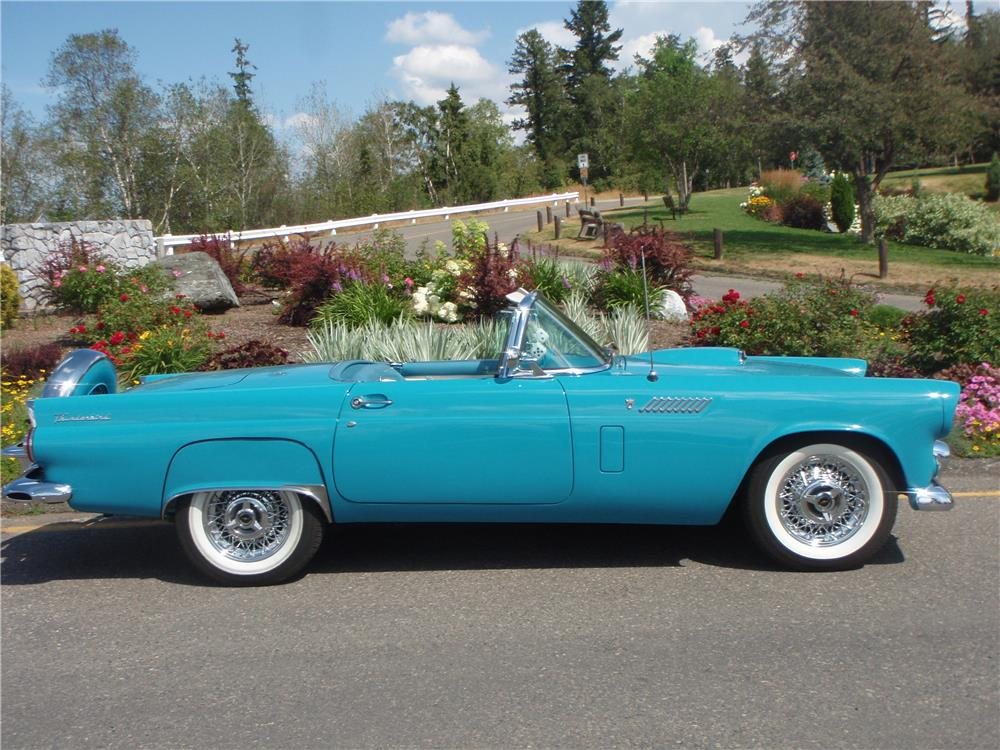 1956 FORD THUNDERBIRD CONVERTIBLE - Side Profile - 188979